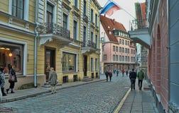 Streets of Tallinn Royalty Free Stock Photo
