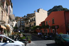 Streets of Taormina Stock Photo