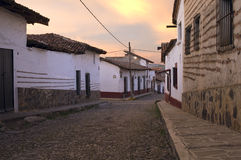 Streets of Tapalpa at Sunrise Stock Photography