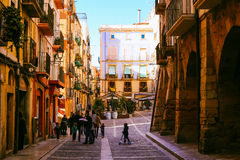 Streets of Tarragona Royalty Free Stock Images
