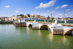 Streets of Tavira town Royalty Free Stock Photos