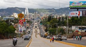 Streets of Tegucigalpa in Honduras.  royalty free stock photography