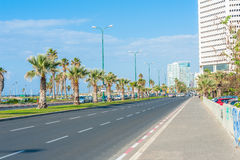 Streets of Tel Aviv. Empty streets of Tel Aviv, Israel royalty free stock photo