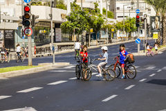 The streets of Tel Aviv during the religion holiday Yom Kippur, Royalty Free Stock Image