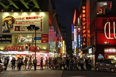 The Streets of Tokyo. Shopping in Tokyo's Akihabara district Royalty Free Stock Photography