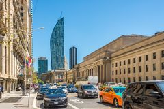 In the streets of Toronto downtown in Canada royalty free stock photography