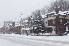 Streets in Toronto During the Snow Royalty Free Stock Images