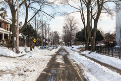 Streets of Toronto in the Winter Stock Photo