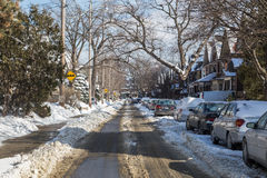 Streets of Toronto in the Winter Royalty Free Stock Image
