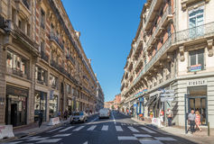 In the streets of Toulouse. TOULOUSE,FRANCE - AUGUST 30,2016 - In the streets of Toulouse. Toulouse is the capital city of the southwestern French department of Stock Photo