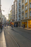 Streets in the tourist center of Istanbul, Turkey. Shops and cafes Stock Photo