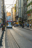 Streets in the tourist center of Istanbul, Turkey. Shops and cafes Royalty Free Stock Image