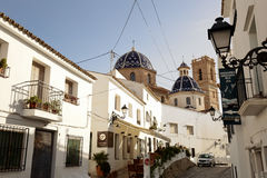 Streets of the town of Altea Stock Photo