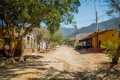 Streets in the town of Tanganga beach, Santa Marta Stock Photography