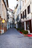 Streets in Treviso during winter time, Italy Stock Photography