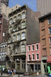 Streets of Tribeca in New York City, Manhattan. Houses and streets of Tribeca in New York City, Manhattan, in May 2015 stock images