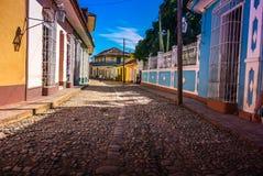 Streets of Trinidad, Cuba Royalty Free Stock Photos