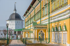 On the streets of Trinity Sergius Lavra. Stock Image
