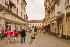 On the streets of Uzhgorod Stock Images