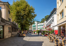 In the streets of Vaduz Stock Photo