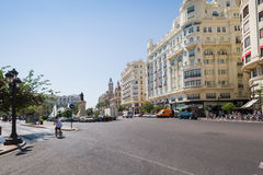 Streets of Valencia Royalty Free Stock Photos