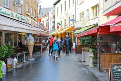On the streets of Valkenburg. Stock Photo
