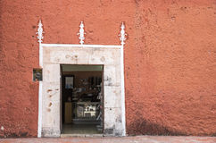 Streets of Valladolid, Mexico. Doorway in an old city of Valladolid Stock Photography