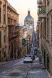 Streets of Valletta. Capital city of Malta Stock Photos