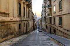 Streets of Valletta. Capital city of Malta Royalty Free Stock Image