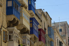 Streets of Valletta. The streets of Valletta - capital city of Malta Stock Images