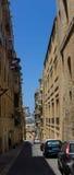 Streets of Valletta. The streets of Valletta - capital city of Malta Stock Photo