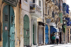 Streets of Valletta Malta Royalty Free Stock Photography