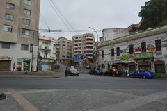 Streets of Valparaiso in Chile Stock Images