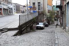 Streets of Veliko Tarnovo in Early Spring Royalty Free Stock Photos
