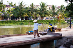 Streets vendor at Hoi An Royalty Free Stock Images