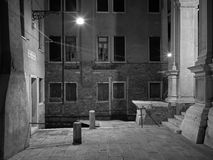 The streets of Venice Long exposure By Night Royalty Free Stock Photography