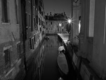 The streets of Venice Long exposure By Night Stock Photography