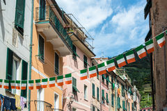 Streets of Vernazza, Cinque Terre Royalty Free Stock Photo