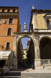 Streets of Verona. Street of the medieval old town of Verona Stock Photography
