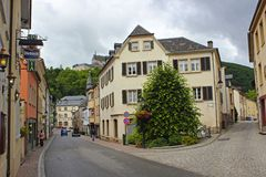 Streets of Vianden, Luxembourg Stock Images