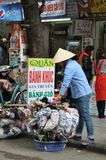 Streets of Vietnam - Clothing accessories seller Stock Photo