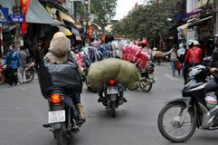 Streets of Vietnam - Hanoi market Stock Photos