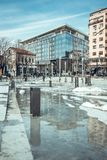 Streets view of the Serbian capital city. Belgrade Royalty Free Stock Photography