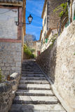 Streets of village of Deia Stock Image