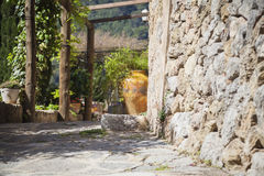 Streets of village of Deia Royalty Free Stock Images