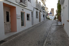 Streets of the village resort of Altea i Royalty Free Stock Images