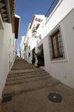 Streets of the village resort of Altea i Stock Photo