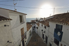 Streets of the village resort of Altea i Royalty Free Stock Photo