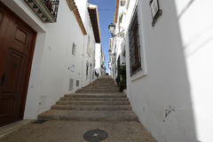 Streets of the village resort of Altea i Stock Image