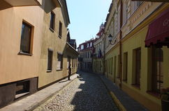 On the streets of Vilnius old Royalty Free Stock Photo